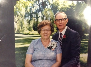 Grandma and Grandpa at their 45th wedding anniversary